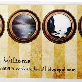 Graphic Design: Business Card - Ronda Williams Fine Art